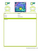 Sunset - Fax Cover Sheet