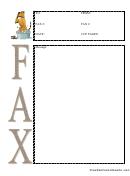 Dog Wash - Fax Cover Sheet