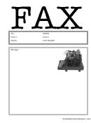 Typewriter - Fax Cover Sheet