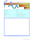 Blue And Orange Fax Cover Sheet