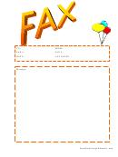 Balloons - Fax Cover Sheet