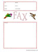 Birds - Fax Cover Sheet