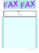 Blue And Purple Fax Cover Sheet