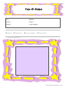 Pink And Yellow Fax Cover Sheet