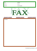 Red And Green Fax Cover Sheet