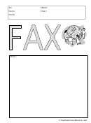 World - Fax Cover Sheet