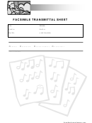 Music Fax Cover Sheet