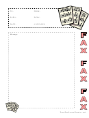 Music - Fax Cover Sheet