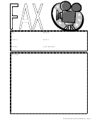Movie Camera - Fax Cover Sheet