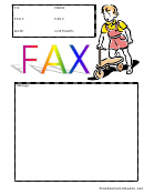 Scooter - Fax Cover Sheet