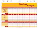 Student Budget Planner Template - Red And Yellow