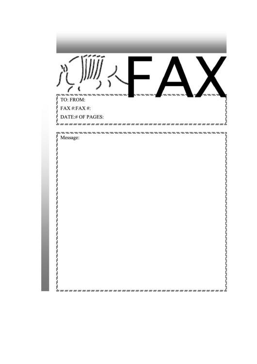 Armadillo - Fax Cover Sheet