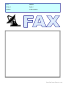 Satellite - Fax Cover Sheet