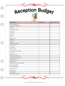 Reception Budget Template