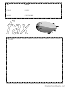 Blimp - Fax Cover Sheet