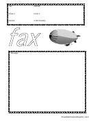 Blimp - Fax Cover Sheet