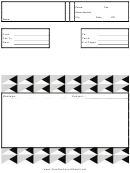 Stylish Triangles - Fax Cover Sheet