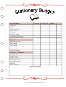 Stationery Budget Template