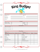 Wedding Ring Budget Planner Template