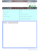 Blue Fax Cover Sheet