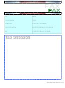 Blue Fax Cover Sheet