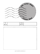 Stamp - Fax Cover Sheet