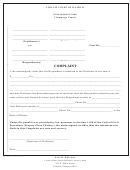 Complaint Form - Circuit Court Of Illinois