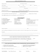 Employee Resignation Form