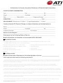 Authorization For Access, Use And/or Disclosure Of Protected Health Information Form