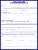Application For Use Of Parks Form - Florence Township