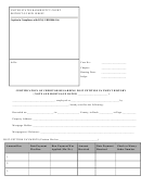 Certification Of Creditor Regarding Post Petition Payment History Form - United States Bankruptcy Court District Of New Jersey