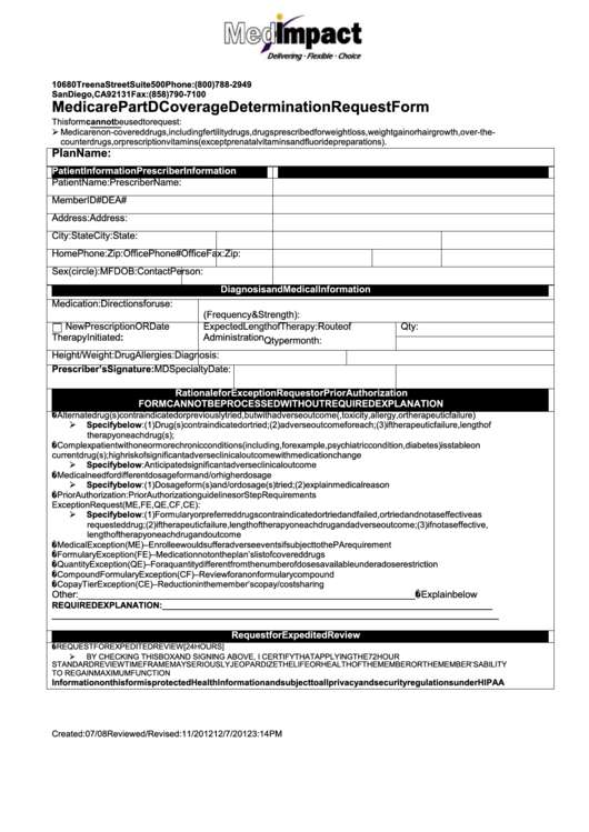 Top Medicare Part D Prior Authorization Form Templates free to ...