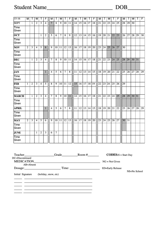 Medication Log Student Consent Form