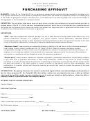 Purchasing Affidavit - State Of West Virginia Purchasing Division