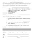 Manufacturer's Affidavit Form