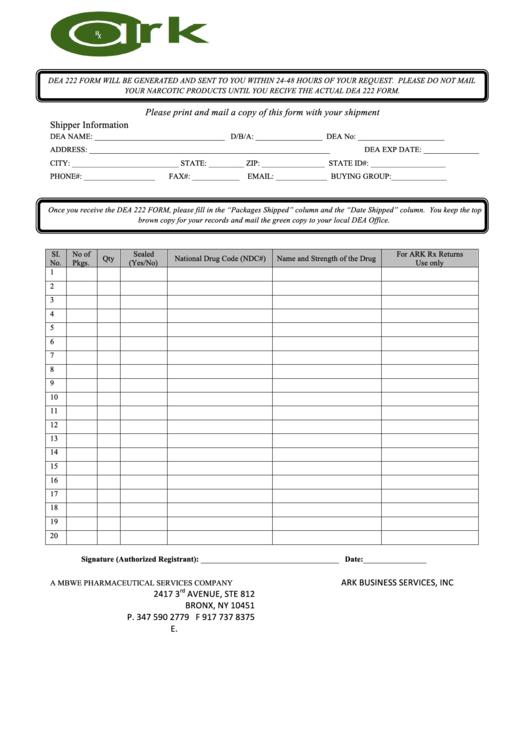dea form 222 request form printable pdf download