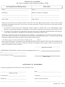 Power Of Attorney Form - Sole Legal Decision-making Parent And Minor Child