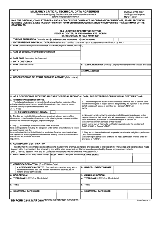 Top Dd Form 2345 Templates free to download in PDF, Word and Excel ...