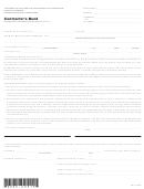 Contractor's Bond Form - California Contractors State License Board