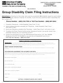 Group Disability Claim Filing Instructions Form - American ...