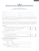 Family Medical Leave/employee Leave Request Form - Seton Hall University