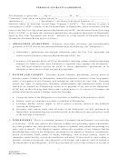 Personal Guarantee Agreement Form