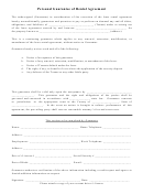 Personal Guarantee Of Rental Agreement Form