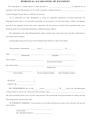 Personal Guarantee Of Payment Form - Douglas County, Kansas, In The City Of Lawrence