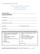 Confidential Reference Letter Template