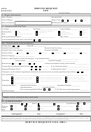 Mh 709 Form - Service Request Log
