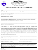 Authorization For Release Of Information Form - State Of Alaska 2004