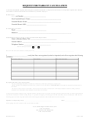 Form 1760 - Request For Warrant Cancellation