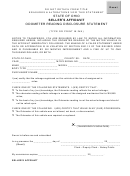 Seller's Affidavit Odometer Reading Disclosure Statement Form
