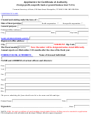 Application For Certificate Of Authority (foreign Profit, Nonprofit, Bank Or General Business Trust T.11a) Form